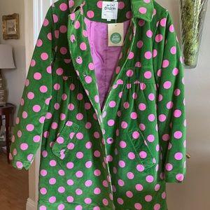 Mini Boden Spotty Velvet Coat Size 11 12 NWT